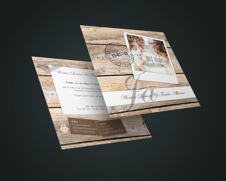 Uitnodiging | Trouwkaart